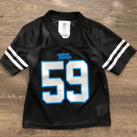 OuterStuff Carolina Panthers NFL Youth Blue Maximal Dri-Tek Long Sleeve T-Shirt